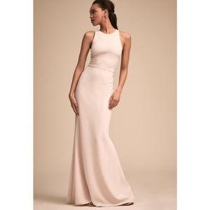 NWOT BHLDN Klara dress in blush/cream color